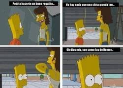 Enlace a Sólo Bart podía traumarse así con algo tan bonito