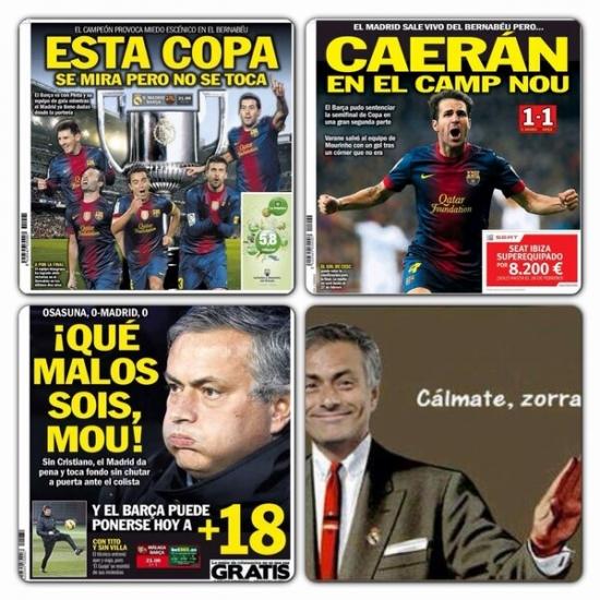 a mi no me jodas,barça,copa del rey,Diario Sport,futbol,Mourinho,real Madrid,ZAS