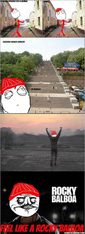 Me_gusta - Cada vez que salgo a correr y veo unas escaleras largas...