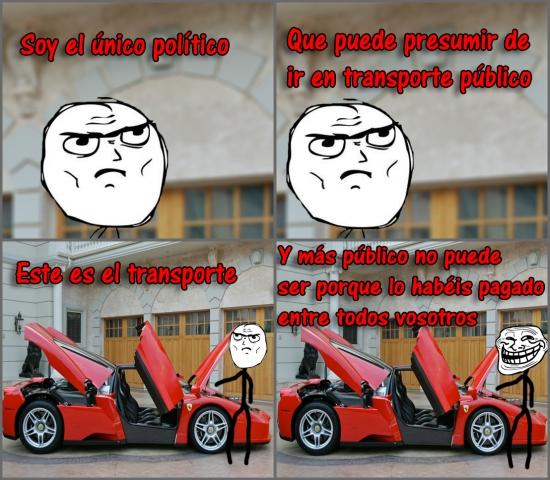 Trollface - El transporte público de los políticos