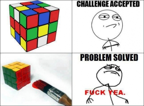 Fuck_yea - Resolver cubo de Rubik, nivel: fuck yea