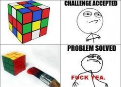 Enlace a Resolver cubo de Rubik, nivel: fuck yea