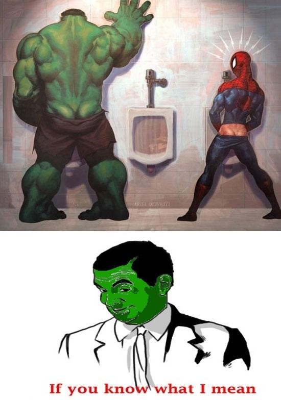 Otros - Sorpresa en los lavabos, nivel: Hulk