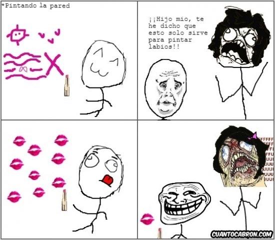 Trollface - Pinta-labios