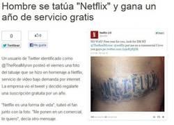 Enlace a Un año de Netflix gratis por hacerse un tatuaje