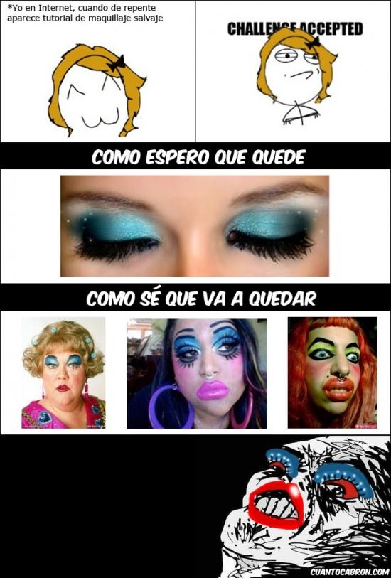 Inglip - Con los tutoriales de maquillaje en Internet siempre pasa lo mismo
