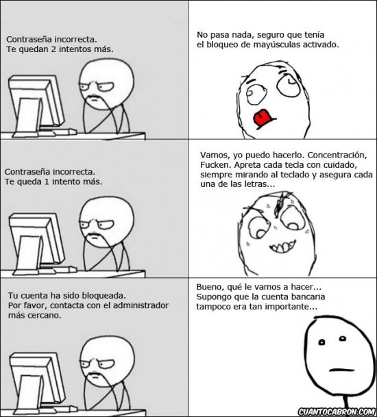Pokerface - Contraseña incorrecta