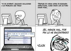 Enlace a Si tienes un problema, la solución siempre está en Internet, ¿no?
