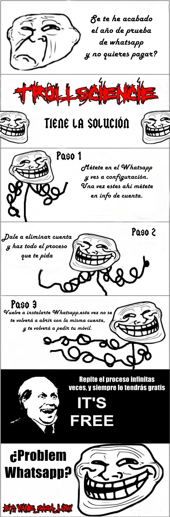 It's Free,Troll Face,TrollScience,Whatsapp