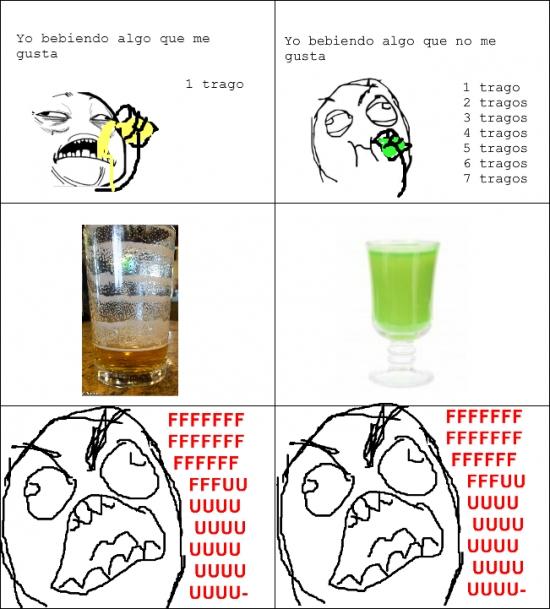 Ffffuuuuuuuuuu - Diferencias entre bebidas que nos gustan y que no nos gustan