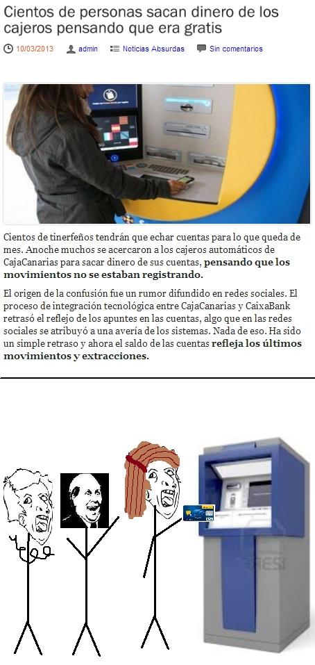 cajero automatico,dinero,genius,gratis,it's free,noticia,sacar