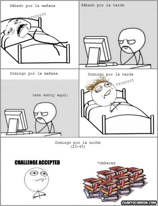 borracho,cama,computer guy,deberes,gustillo,libros