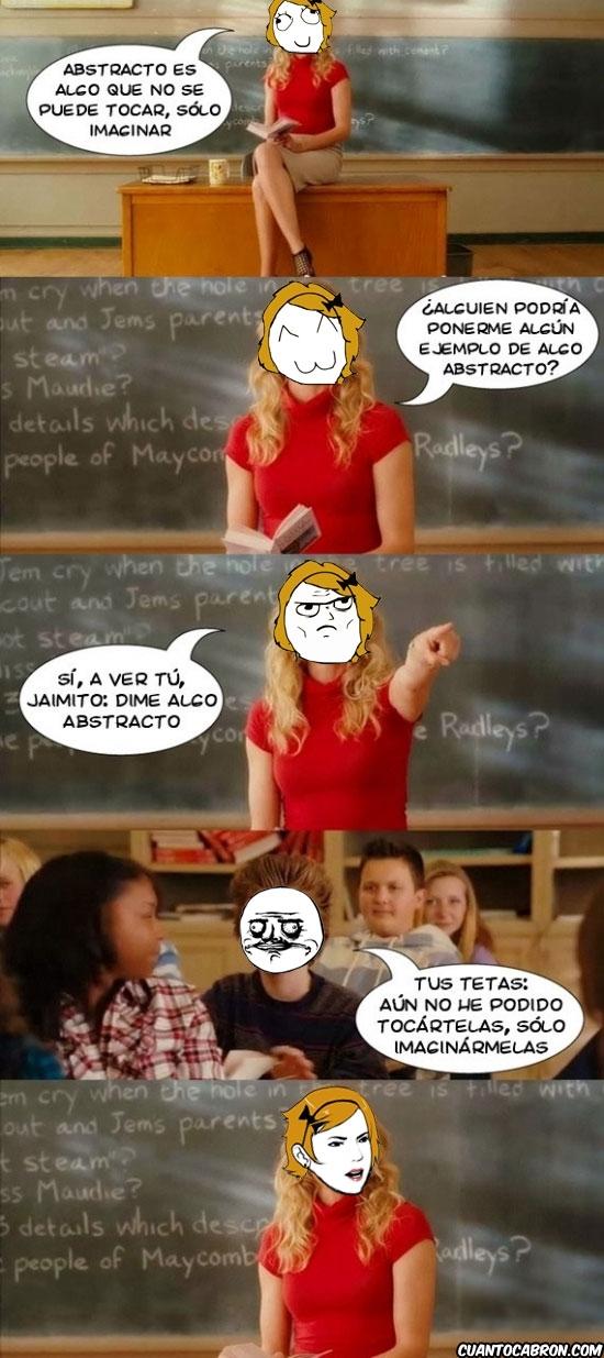 abstracto,are you serious,clase,jaimito,pregunta,profesora