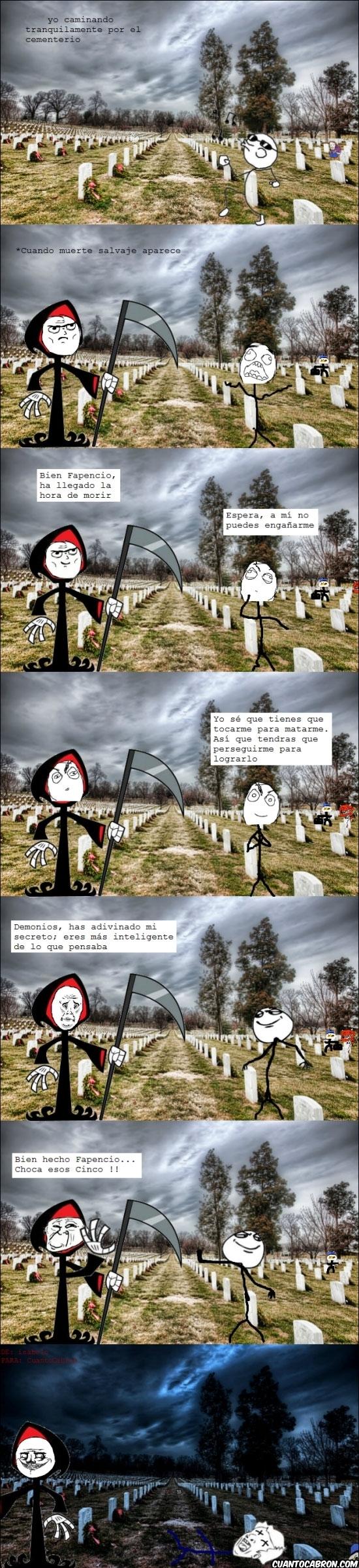 cementerio,choca esos cinco,diablo,dolan,engañar,escapar,miedo,muerte