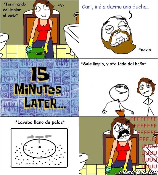 Ffffuuuuuuuuuu - Y es así cómo siempre dejo el baño
