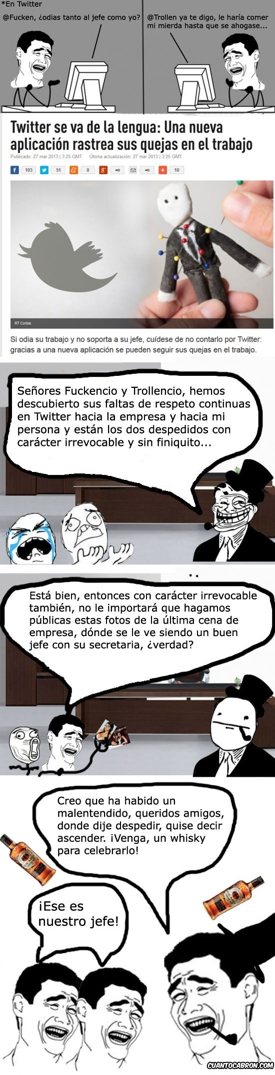 actualidad,chivato,jefe,noticia,poker face,quejas,trabajo,twitter,Yao Ming