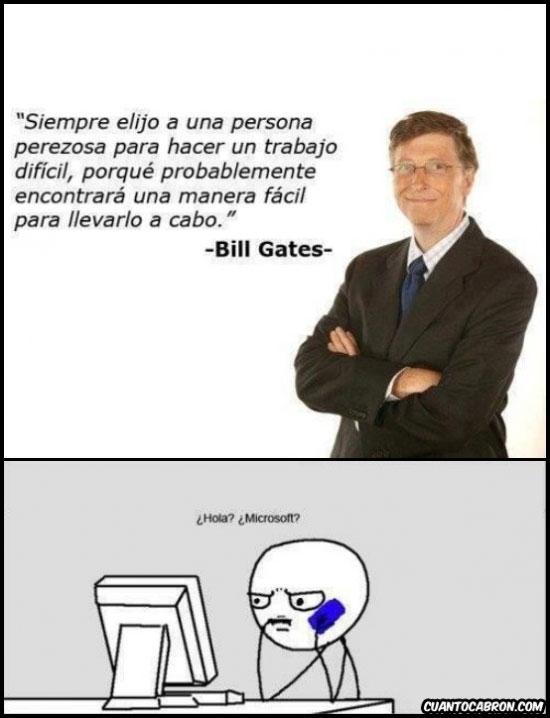 Bill Gates,Computer Guy,Elegido,Microsoft,Perezoso,Vago