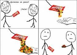 Enlace a Odio cuando estoy compartiendo caramelos y caen más de la cuenta