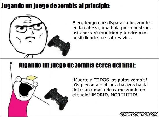 Otros - El uso de munición contra zombis según el momento