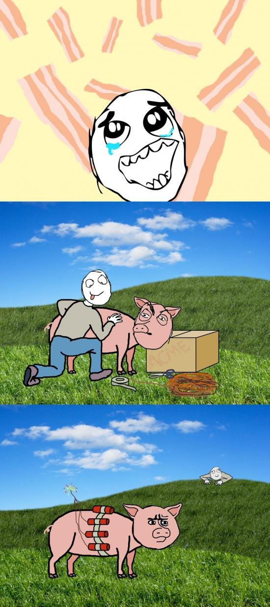 Oh_god_why - Técnica exprés para conseguir bacon