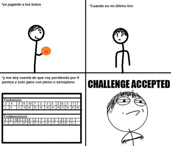 Challenge_accepted - Jugando a los bolos