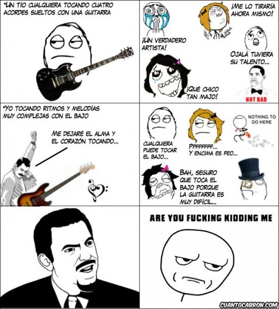 Kidding_me - Nadie respeta a los bajistas