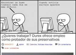 Enlace a Durex tiene un trabajo para ti