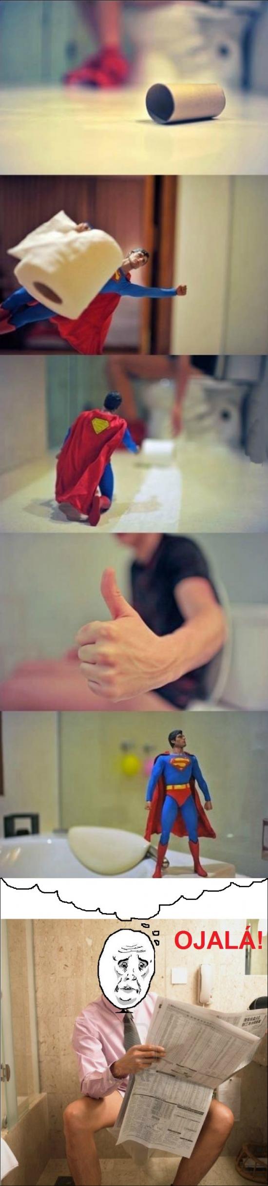 baño,cagar,higienico,muñeco,ojalá,okay,papel,superman