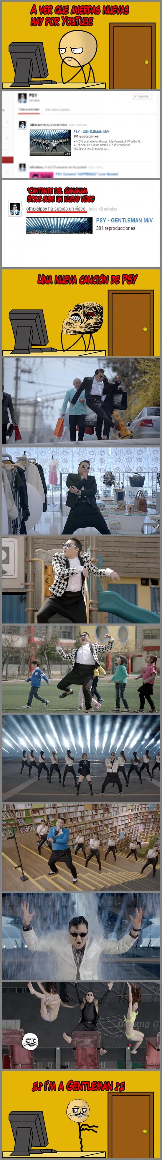 Gangnam Style,Gentleman,me gusta,nuevo,PSY,raisins,videoclip