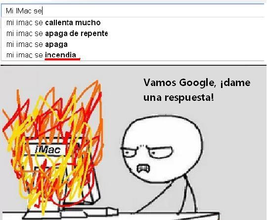 Computer_guy - Mi iMac se incendia... ¡Date prisa, Google!