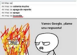 Enlace a Mi iMac se incendia... ¡Date prisa, Google!