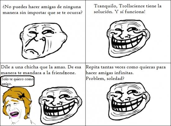 Trollface - ¿No tienes amigas? Aquí te traemos la solución