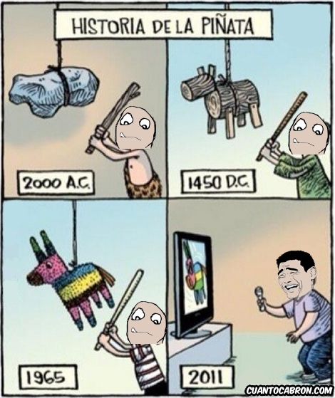 consola,evolucion,golpear,palo,piñata,wii,yaoming