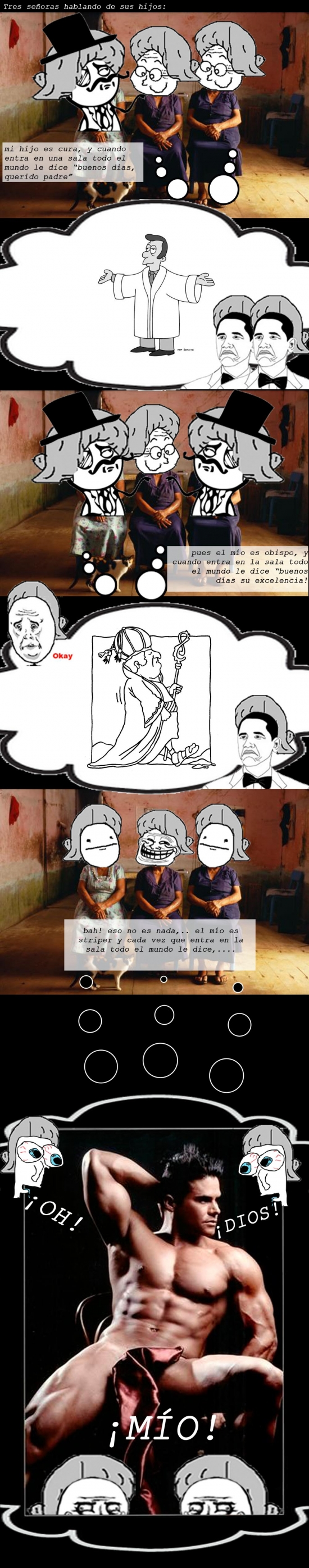 Trollface - Señoras hablando de sus hijos