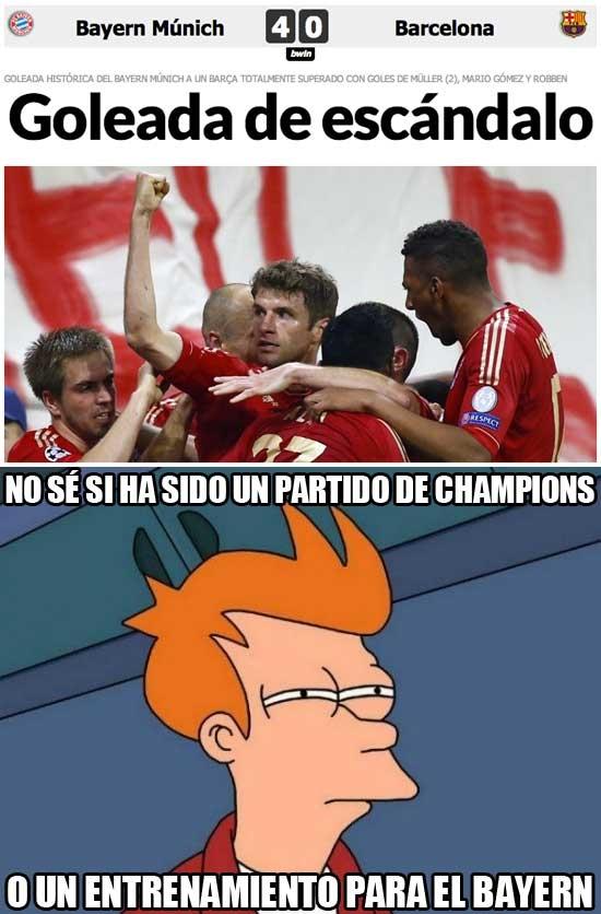 Fry - El Bayern ha destrozado al Barça