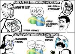 Enlace a Messenger después antes y después de su eliminación