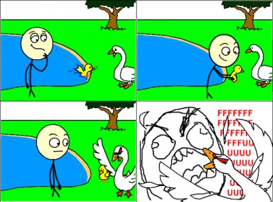 Ffffuuuuuuuuuu - Yo solo quería ayudar, estúpido cisne