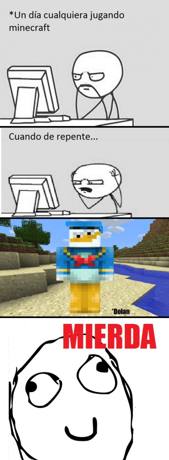 Computer_guy - En Minecraft te pueden pasar cosas muy chungas...