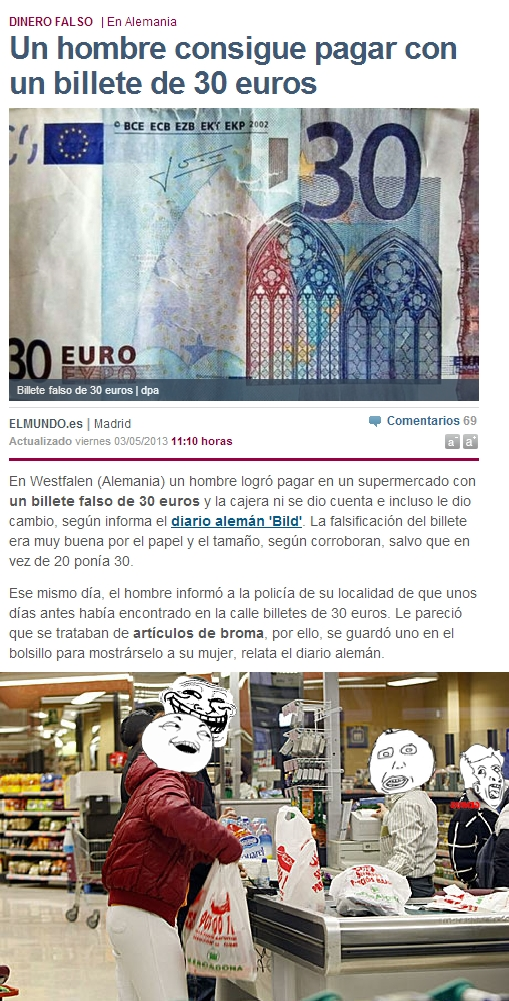 30€,actualidad,alemania,billete falso,cambio,comprar,dinero,falso,genius,retrasada