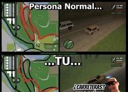 Enlace a Así es la lógica GTA, ¿o tú ibas por la carretera?