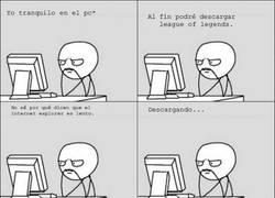 Enlace a Se puede ser lento, muy lento o Internet Explorer
