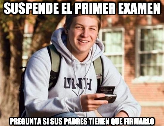 Universitario_primer_curso - El novato de la Universidad