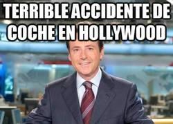 Enlace a Terrible accidente de coche en Hollywood