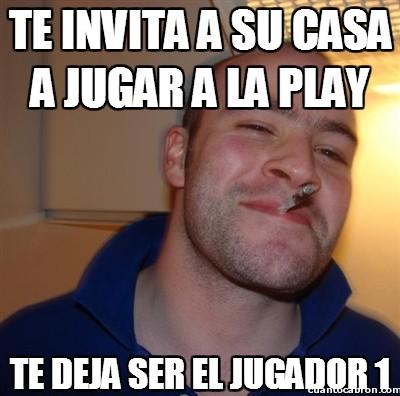 buen tio,invitar,jugador 1,jugar,player 1,playstation,videojuegos