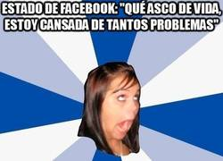 Enlace a Problemas que nadie debe conocer, como estado de Facebook