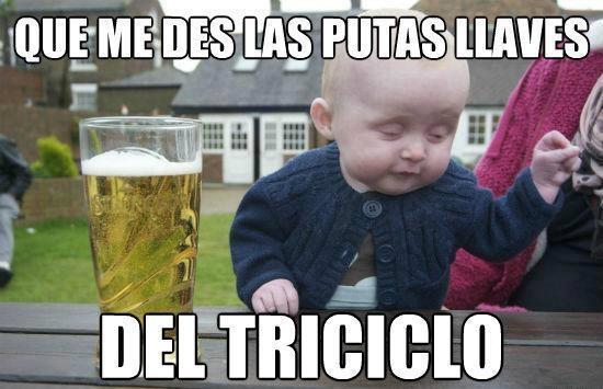 Bebe_borracho - El bebé borracho, pillando tajas antes de aprender a andar