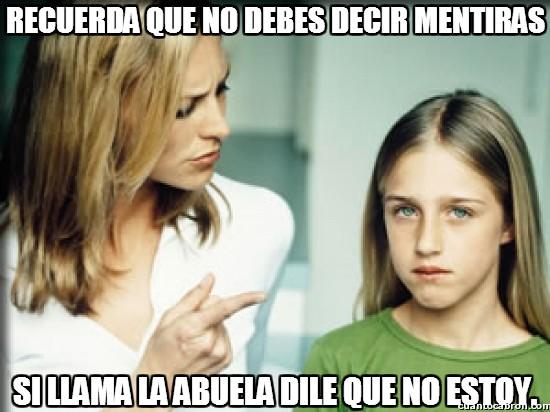Meme_otros - La madre moralista, haz lo que te digo, no lo que yo hago