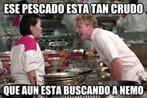 Chef_ramsay - El pescado crudo de Ramsay