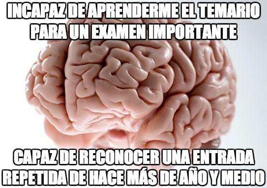 Cerebro_troll - Incapaz de aprenderme el temario para un examen importante