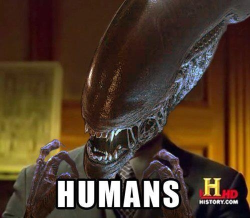 aliens,el octavo pasajero,humanos,humans